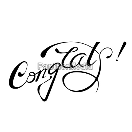 congrats lettering sign isolated on white