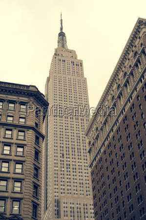 low angle view of empire state