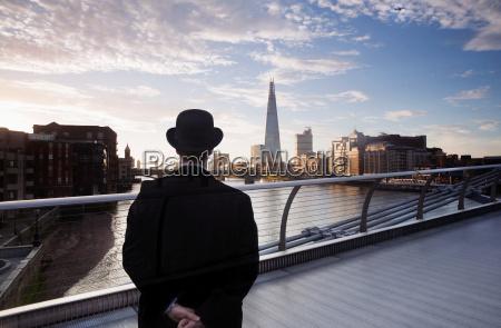 rear view of man wearing black