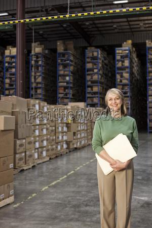 portrait of a caucasian female executive