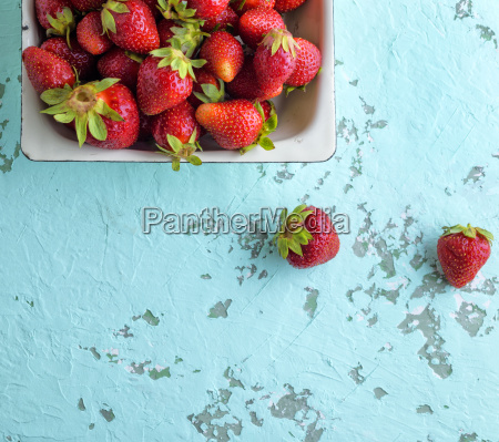 fresh ripe red strawberry in a