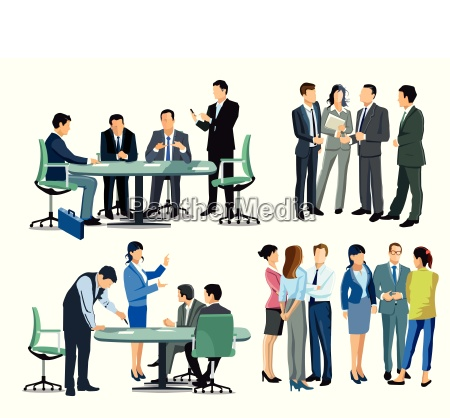 business meeting among business people