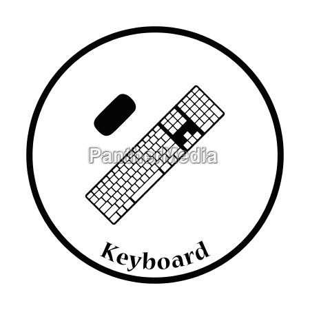 keyboard icon vector illustration