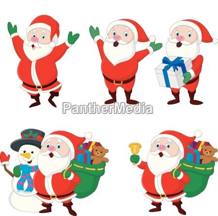 sammlung von weihnachtsweihnachtsmann