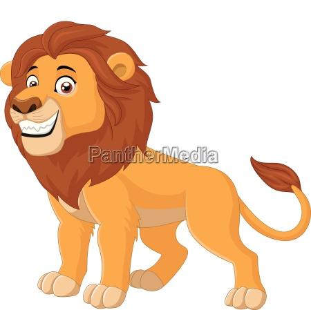 cartoon happy lion