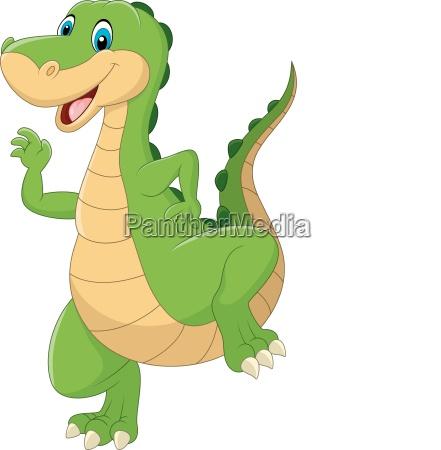 niedliche dinosaurier cartoon