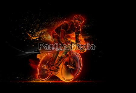 computererzeugtes bild des maennlichen radfahrerradfahrens