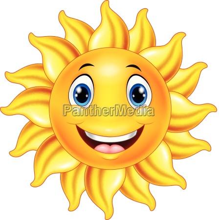 cute smiling sun cartoon