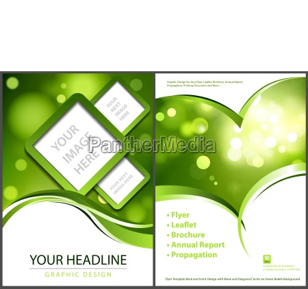 flyer template with bokeh background