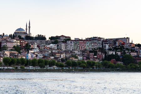 quayside in fatih district in istanbul