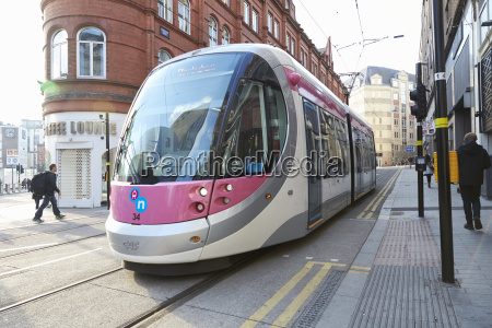 birmingham uk 6 november 2016 tram