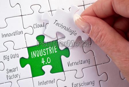 industrie 40 business puzzle konzept