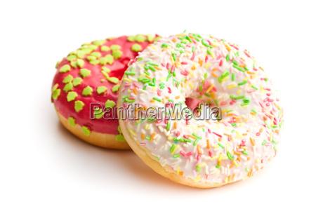 sweet sprinkled donuts