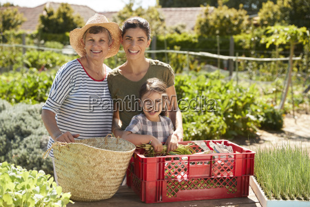mother with adult daughter and granddaughter