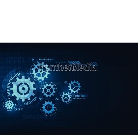 vektor abstrakte hintergrundtechnologie zahnradkonzept