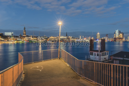 germany hamburg view from viewpoint old