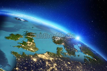 planet erde geographie 3d rendering