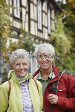 germany ruedesheim portrait of smiling senior