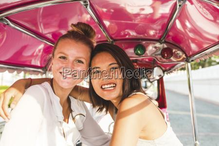 thailand bangkok portrait of two happy