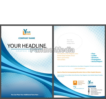 blue abstract graphic design for leaflet