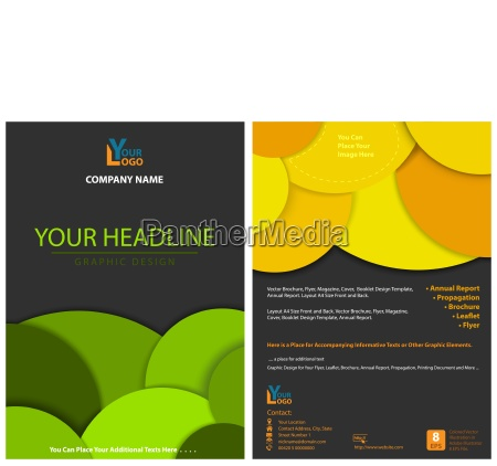 leaflet design with circles in layers