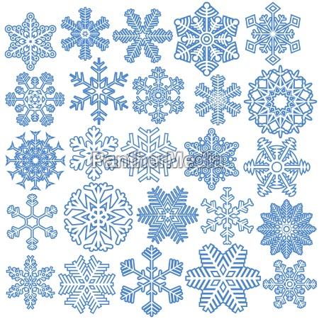 collection christmas snow flakes