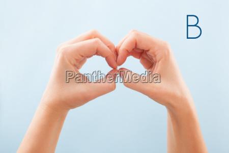 bsl fingerspelling alphabet letter b