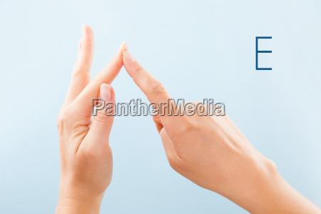 bsl fingerspelling alphabet e