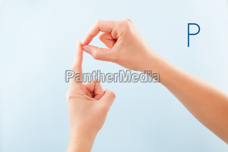 bsl fingerspelling alphabet p