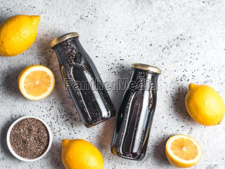 detox activated charcoal black chia lemon