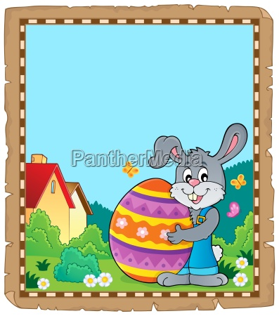 parchment with easter bunny topic 6