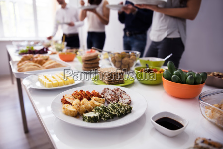 people eating healthy meal