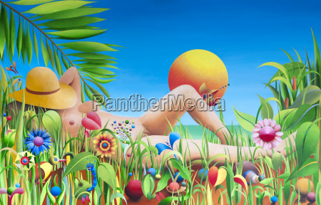 im lustgarten acrylbild kuenstler gerhard kraus