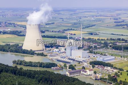 luftaufnahme eon kernkraftwerke isar i und