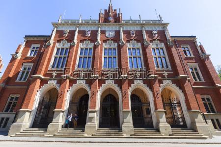 fassade der jagiellonen universitaet alte stadt
