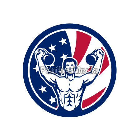 american physical fitness usa flag icon
