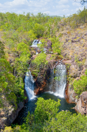 waterfall in the litchfield national park