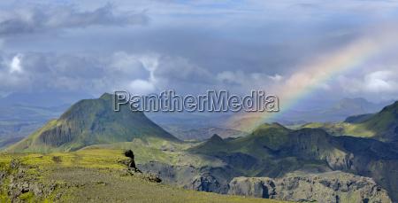 plateauberg morinsheidi und regenbogen blick