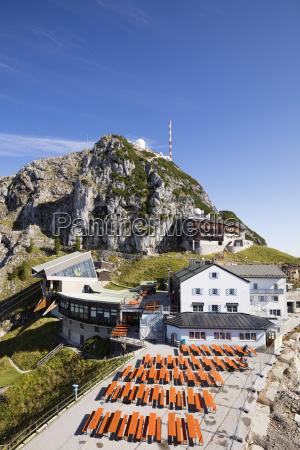 summit of wendelstein transmitter mast and