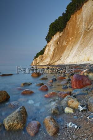chalk coast at sunrise jasmund national