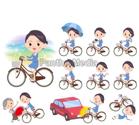 flugbegleiterin blau womencity fahrrad