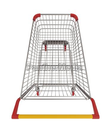 shopping cart top view cutout 3d
