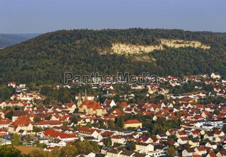 beilngries blick vom hirschberg altmuehltal oberbayern