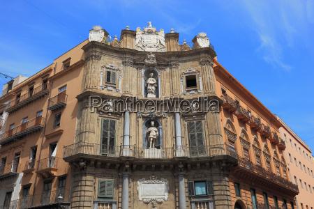 sizilien altstadt von palermo am piazza