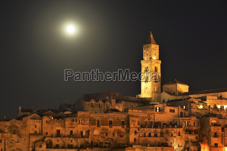 medieval old town with cathedral at