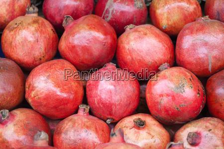 pomegranates in fruit market nepal