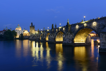 charles bridge over the vltava with