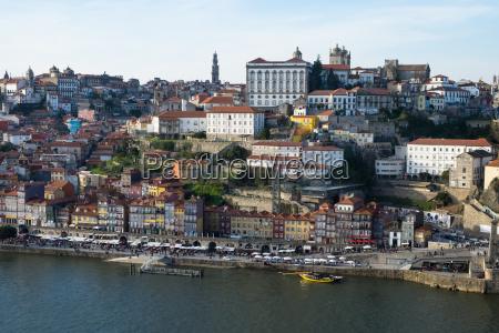 view of ribeira old town porto
