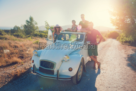 friends in a car