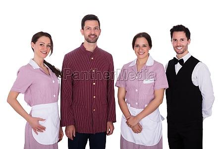 portrait of happy staff
